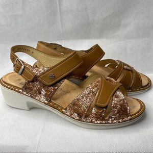 Finn comfort • BUKA brown leather comfort sandals.